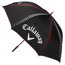 """Callaway Golf Tour Authentic 68"""" Double Canopy Umbrella - Black/White/Red"""