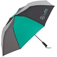 Mercedes AMG Petronas F1 Team Compact Umbrella - Black/Grey/Green