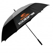 Cobra Golf Automatic One-Touch Double Canopy Umbrella - Black/Grey