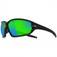 Adidas Evil Eye Evo Sunglasses - Black Shiny/Black/Grey/Green Mirror