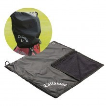 Callaway Golf Club Waterproof Rain Hood Towel Combo  - Black