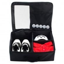 Callaway Golf Boot Locker Organiser Fold Flat Shoe Bag Luggage - Black