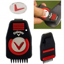 Callaway Golf CNC Groove Cleaner Tool & Ball Marker - Black