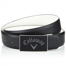 Callaway Golf Mens Reversible Belt With Rubber Buckle - Caviar - One Size
