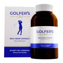 Golfer's CBD 2021 10mg CBD Rich Hemp Extract Softgel Capsules - 30 Pack