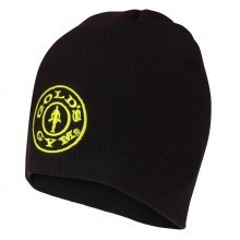 Golds Gym Knitted Beanie Hat - Black - One Size