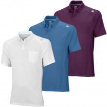 Wilson Mens Late Summer Novelty Two Tone Knit Tennis Polo Shirt