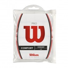 Wilson Pro Overgrip 12 Pack Waterproof Tennis Grips WRZ4016 - White - 12 Pack