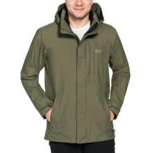 Jack Wolfskin Mens Waterproof Brooks Range Flex Hardshell Jacket