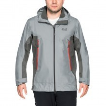 Jack Wolfskin Mens Waterproof Refugio Flex Hardshell Jacket