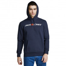 Jack & Jones Mens 2021 Old Logo Soft Cotton Blend Pullover Hoody