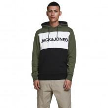 Jack & Jones Mens 2021 Colour Block Logo Sweater Pullover Fleece Hoody
