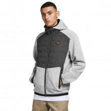 Jack & Jones Mens 2021 Hybrid Lightweight Zipped Pockets Hooded Jacket