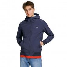 Jack & Jones Mens 2021 Hooded Lightweight Zipped Pockets Soft Feel Jacket
