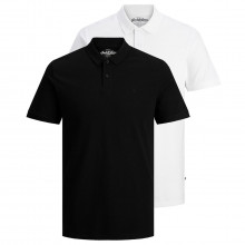 Jack & Jones Mens 2021 Basic Casual Embroidered 2-Button 2 Pack Polo Shirt