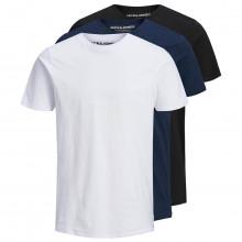 Jack & Jones Mens 2021 Organic Basic O-Neck Lightweight Crew Neck 3 Pack T-Shirt