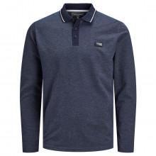 Jack & Jones Mens 2021 Turk Long Sleeve Single Stripe Regular Fit Polo Shirt