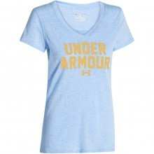 Under Armour Womens Charged Cotton UA Wordmark Standout T Shirt