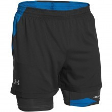 Under Armour Mens UA Launch Racer 2 IN 1 Training Shorts