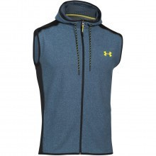 Under Armour Mens UA ColdGear Infrared Survival Fleece Vest Full Zip Gilet