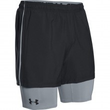 Under Armour Mens UA Mirage 2 IN 1 Built In Baselayer Shorts