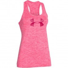 Under Armour Womens UA Branded Tech Tank Top Fitness Gym Workout Vest
