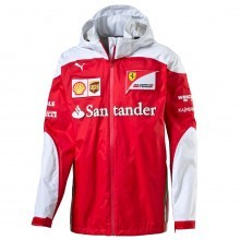 Scuderia Ferrari Mens Waterproof SF Team Jacket