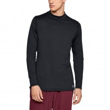 Under Armour Mens ColdGear Armour Fitted Mock Neck Stretch Baselayer Top