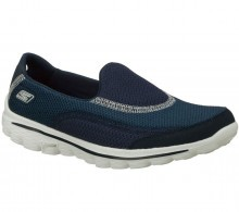 Skechers Womens GO WALK 2 Slip On Walking Shoes Running Sports Gym Trainers