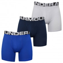 Under Armour Mens 2021 Charged Cotton Wicking 4-Way Stretch 6in (3 Pack) Boxers