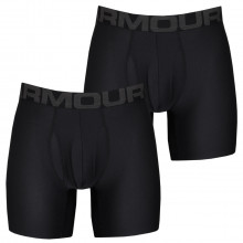 Under Armour Mens 2021 Tech 6in Moisture Wicking 4-Way Stretch (2 Pack) Boxers