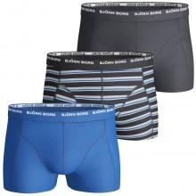 Bjorn Borg Mens BB Basic Stripe 3-Pack Boxer Briefs