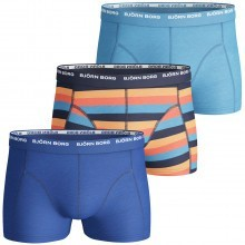 Bjorn Borg 2016 Mens BB Basic Stripe 3 Pack Boxer Trunks Active Sports Underwear