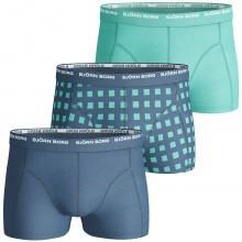 Bjorn Borg 2016 Mens BB Basic Check 3 Pack Boxer Trunks Active Sports Underwear