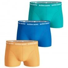 Bjorn Borg Mens Seasonal Solids Boxer Briefs 3 Pack