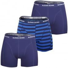 Bjorn Borg Mens Stripe Sammy 3-Pack Boxer Shorts