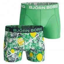 Bjorn Borg Mens 2019 BB LA Lemon 2 Pack Boxers