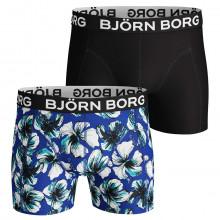 Bjorn Borg Mens BB LA Hibiskus 2 Pack Boxers