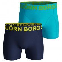 Bjorn Borg Mens 2019 Neon Solid 2 Pack Boxers