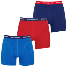 Bjorn Borg Mens S Shorts Solid 3 Pack Boxers