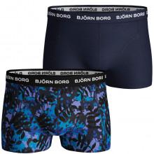 Bjorn Borg Mens LA Leaf Scott Short 2 Pack Mid Rise Boxers