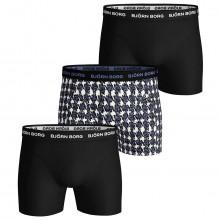 Bjorn Borg Mens Houndstooth Sammy 3 Pack Comfort Boxers