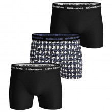 Bjorn Borg Mens 2020 Houndstooth Sammy 3 Pack Comfort Boxers