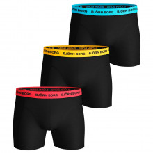 Bjorn Borg Mens 2020 Neon Solid Sammy 3 Pack Comfort Boxers