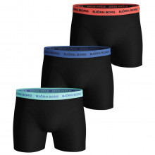 Bjorn Borg Mens 2021 Sammy Shorts Solid Multi 3 Pack Comfort Boxers