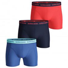 Bjorn Borg Mens 2021 Sammy Shorts Seasonal Solid 3 Pack Boxers