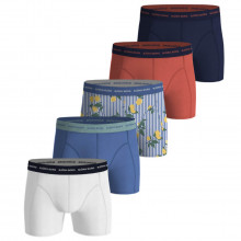 Bjorn Borg Mens 2021 Sammy Shorts BB Lemonstripe 5 Pack Boxers