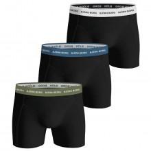 Bjorn Borg Mens 2021 Solids Sammy Stretch 3 Pack Boxer Briefs