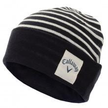Callaway Golf Mens Stripe Knit Beanie Winter Wooly Hat