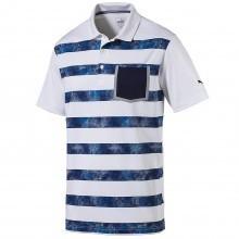 Puma Golf Mens 2018 Camo Stripe Polo Shirt